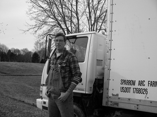 Matthew Linehan, Sparrow Arc Farm.  Photo by John Townes