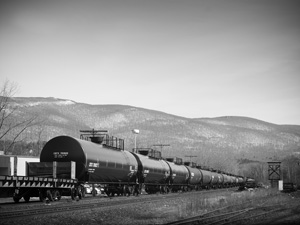 Oil train in North Adams MA.  Photo by Tony Israel